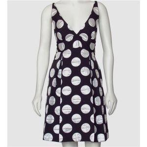 MILLY Bow Back Polka Dot Dress